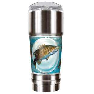 Mark Susinno's Bass and Trout 32 oz. Stainless Steel Travel Tumbler
