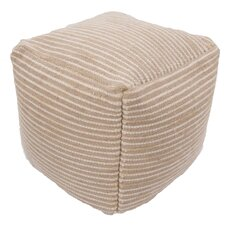 Andrews Textural Wool and Cotton Pouf Ottoman by Red Barrel Studio