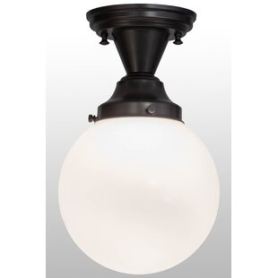 Meyda Tiffany Greenbriar Oak 1-Light Semi-Flush Mount