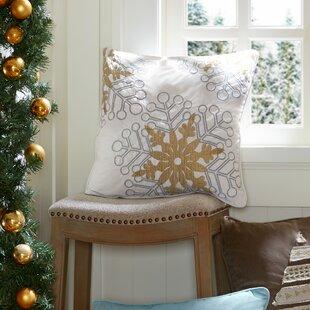 Snowflake Glitz Throw Pillow