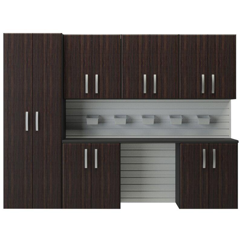 6u0027 h x 8u0027w 7 piece cabinet set