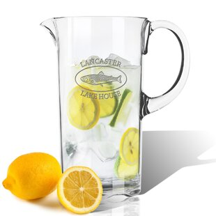 Personalized Tritan Lake House and Trout 55 oz. Pitcher