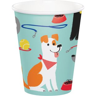 Dog Paper Disposable Cup (Set of 24)