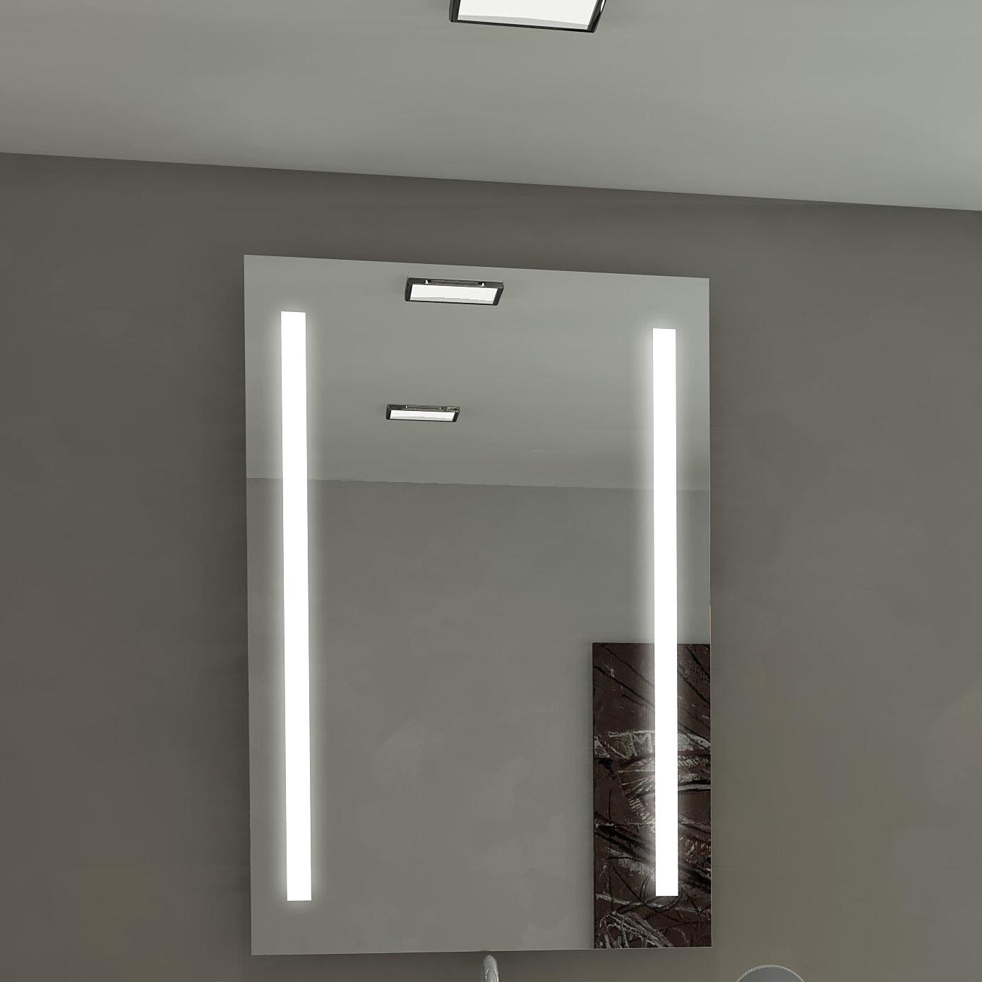 Orren Ellis Lency Illuminated Eco Friendly Bathroom Vanity Wall Mirror Wayfair
