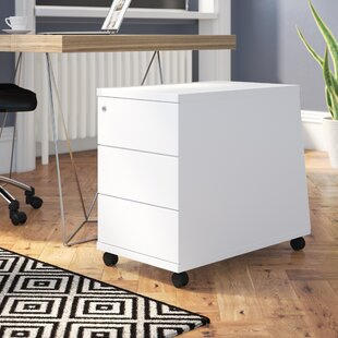 Derryberry 3-Drawer Mobile Lockable Filing Cabinet By Mercury Row