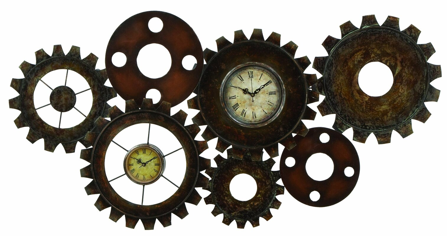Abchomecollection steampunk inspired wall clock reviews wayfair steampunk inspired wall clock amipublicfo Images