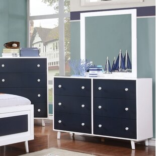 Sea Dog 6 Drawer Double Dresser with Mirror