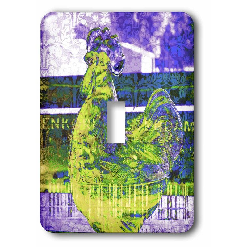 3drose Lime Rooster 1 Gang Toggle Light Switch Wall Plate Wayfair