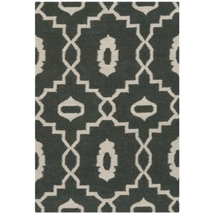Dhurries Green/Ivory Area Rug
