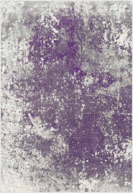 Candelaria Abstract Medium Gray/Dark Purple Area Rug