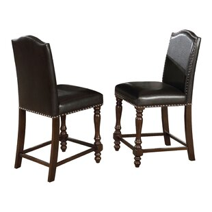 Langley Counter Height Upholstered Dining Chair (Set of 2) by Crown Mark