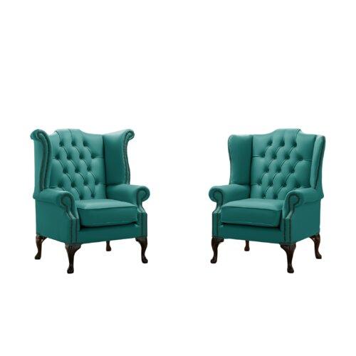 Belfield 2 Piece Wingback Chair Set Astoria Grand Upholstery