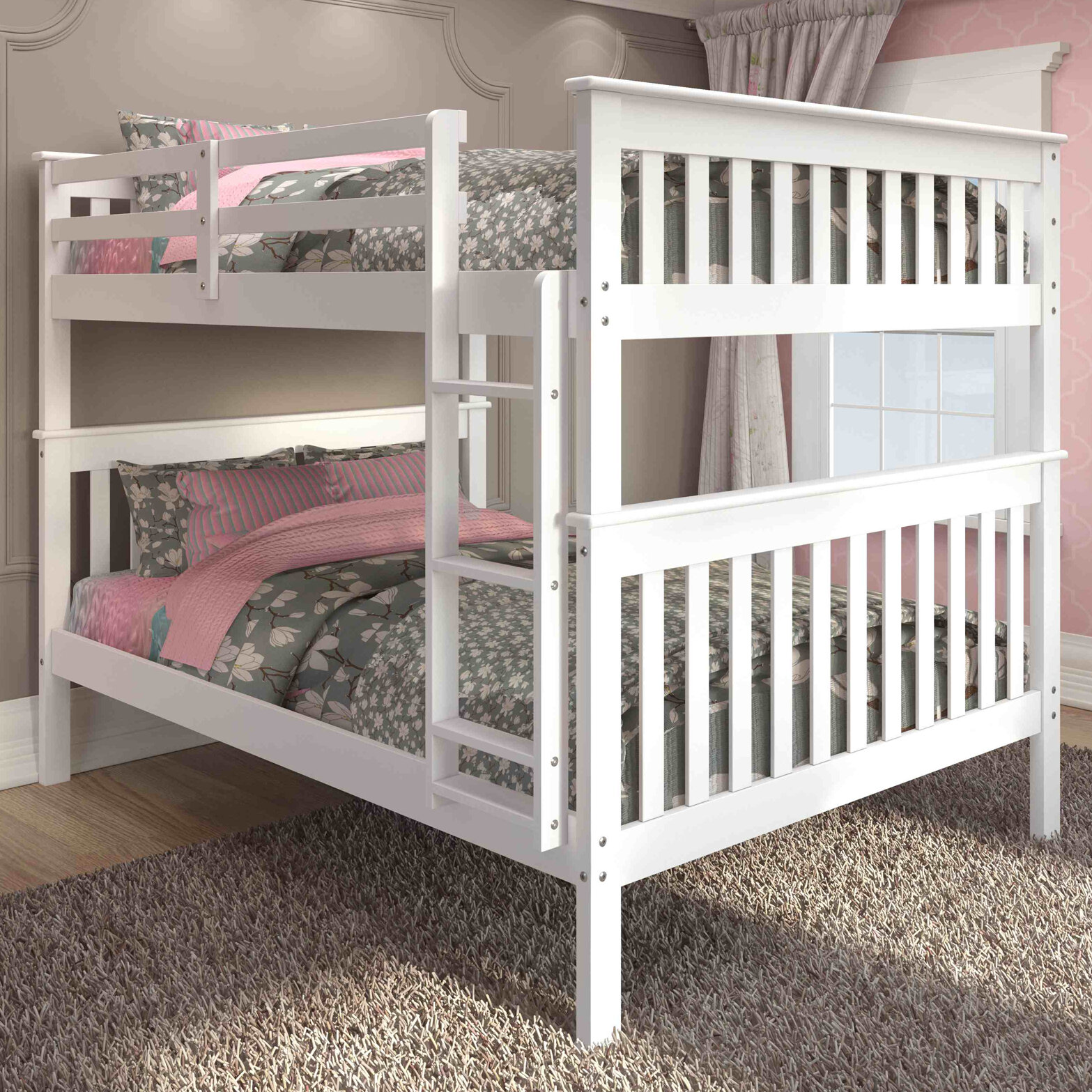 Harriet Bee Catharine Full Over Full Bunk Bed Reviews Wayfair
