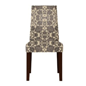 Haddonfield Flower Parsons Chair (Set of 2) by Latitude Run