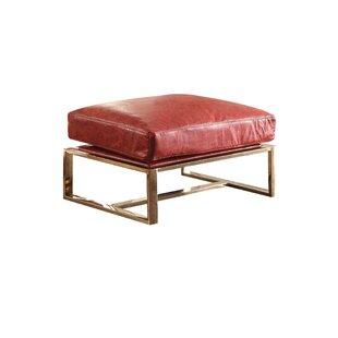 Samara Metal Frame Upholstered Seat Ottoman by Everly Quinn