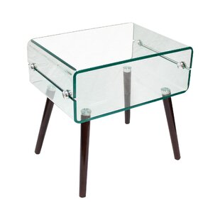 Sylvia Glass End Table
