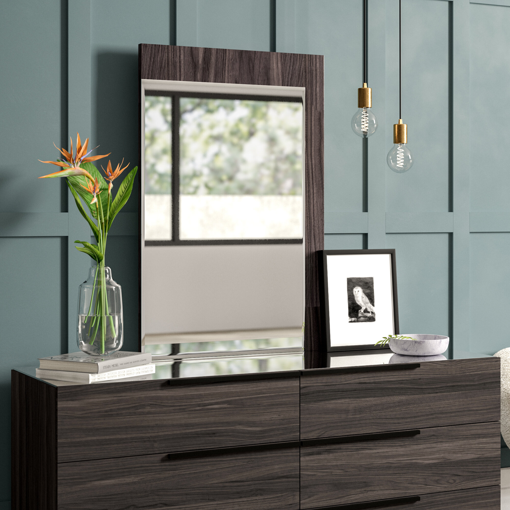 Mercury Row Saltz Rectangular Modern Contemporary Dresser Mirror Wayfair