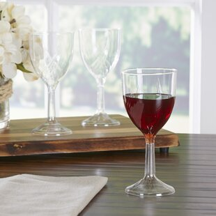Wayfair Basics Plastic Disposable Wine Glasses (Set of 100)
