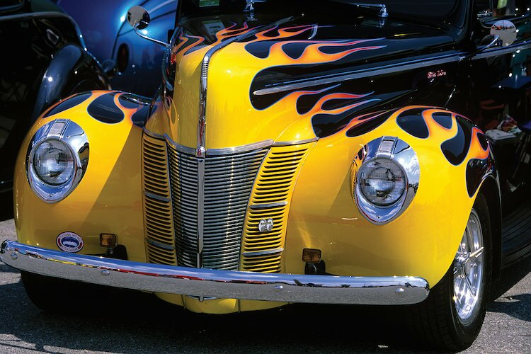 East Urban Home '1939-1940 Ford Flame Job Painted Hot Rod ...