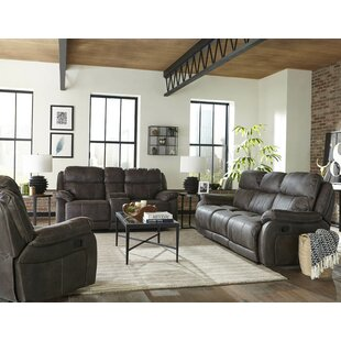 Pasternak Reclining Configurable 3 Piece Living Room Set by Loon Peak