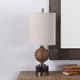 Bondurant Wood Sphere 28 Table Lamp