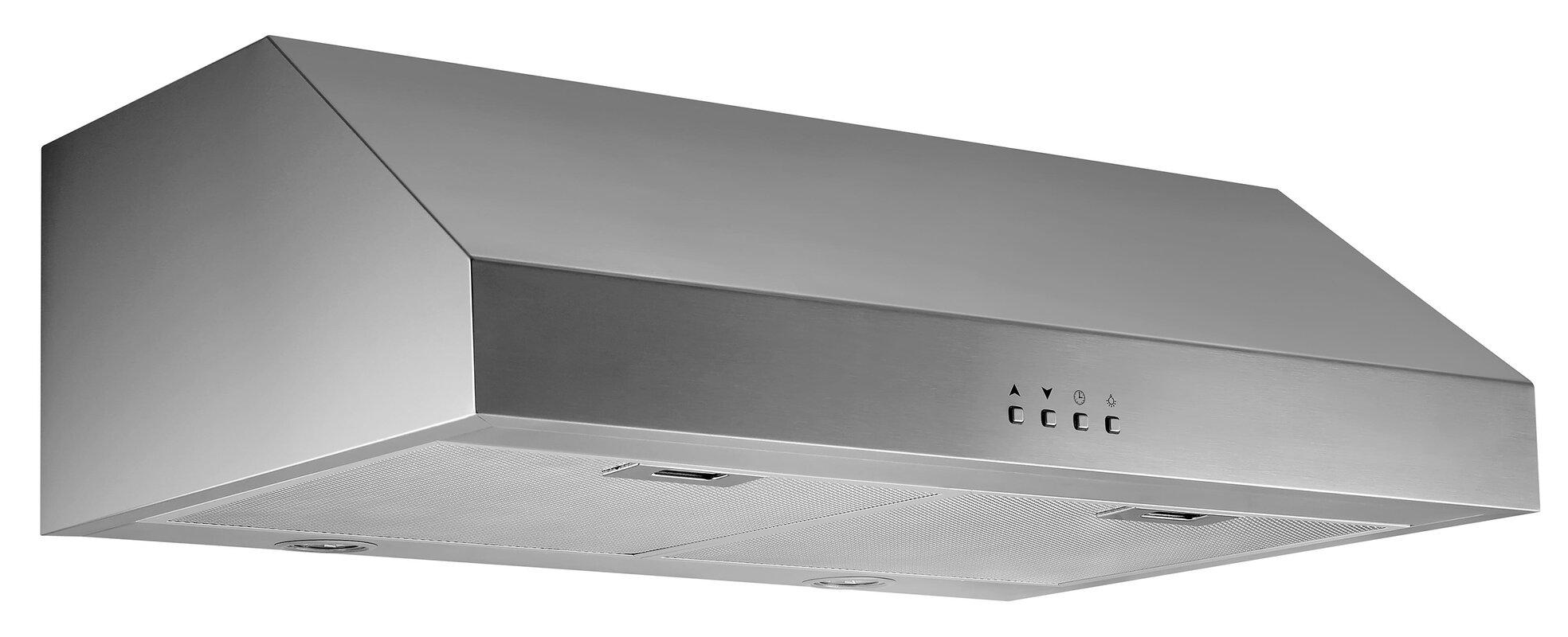 Ancona 30 450 CFM Ducted Under Cabinet Range Hood Reviews Wayfa