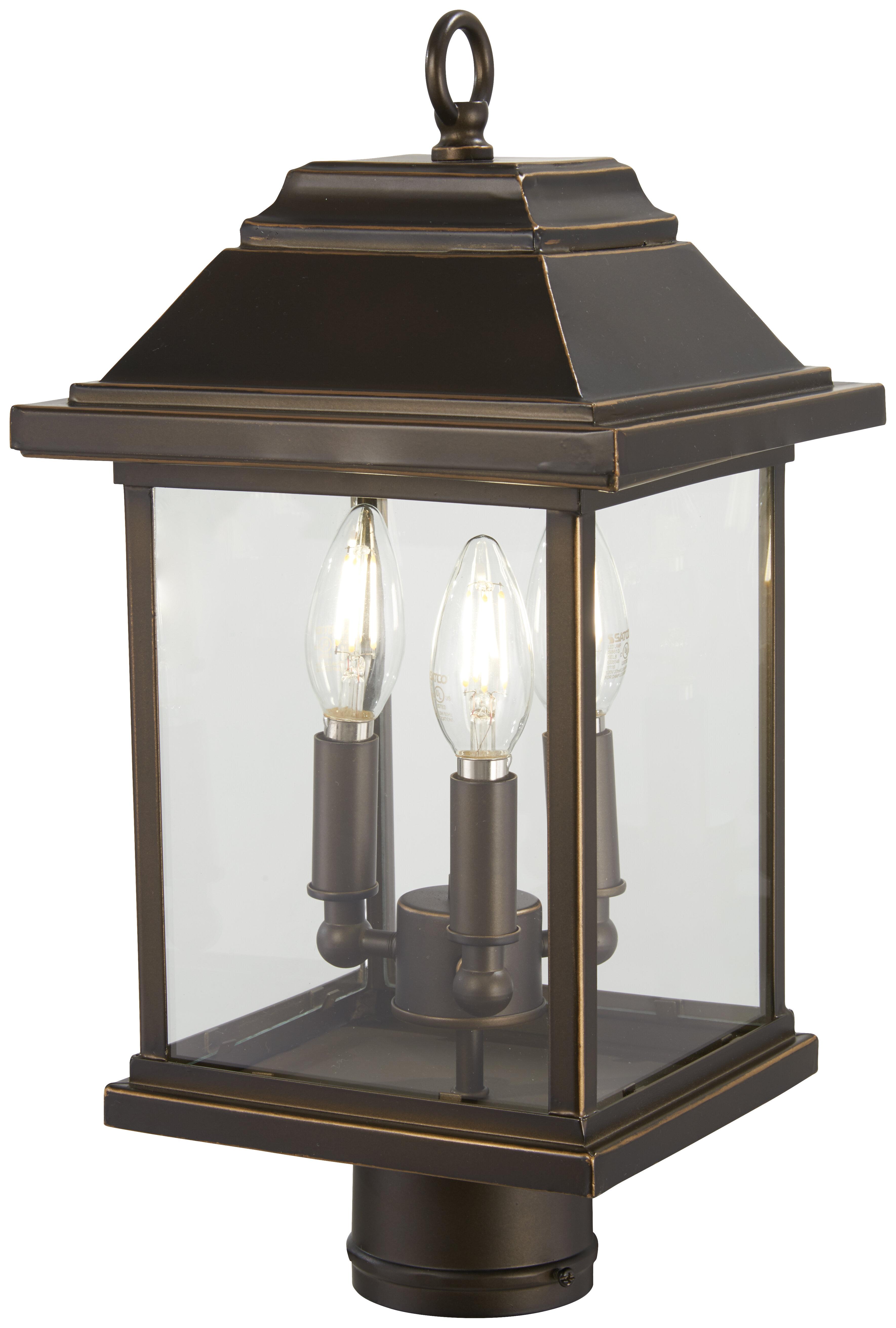 Charlton Home Duplantis Outdoors 3 Light Lantern Head Wayfair