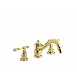 Check Prices Iv Georges Brass Deck-Mount Bath Faucet Trim for High-Flow Valve with Lever Handles, Valve Not Included By Kohler