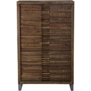 Holli Wooden 5 Drawer Chest by World Menagerie