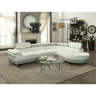 Shrader Polyurethane Sectional by Orren Ellis Today Sale Only