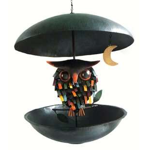 Gift Essentials Spiky Owl Bistro Decorative Bird Feeder