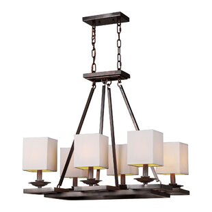 Fleur De Lis Living Schneider 6-Light Shaded Chandelier