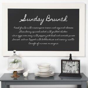 save to idea board - White Framed Chalkboard