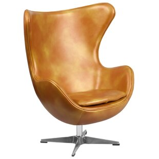 Mengni Gold Leather Chair by 17 Stories