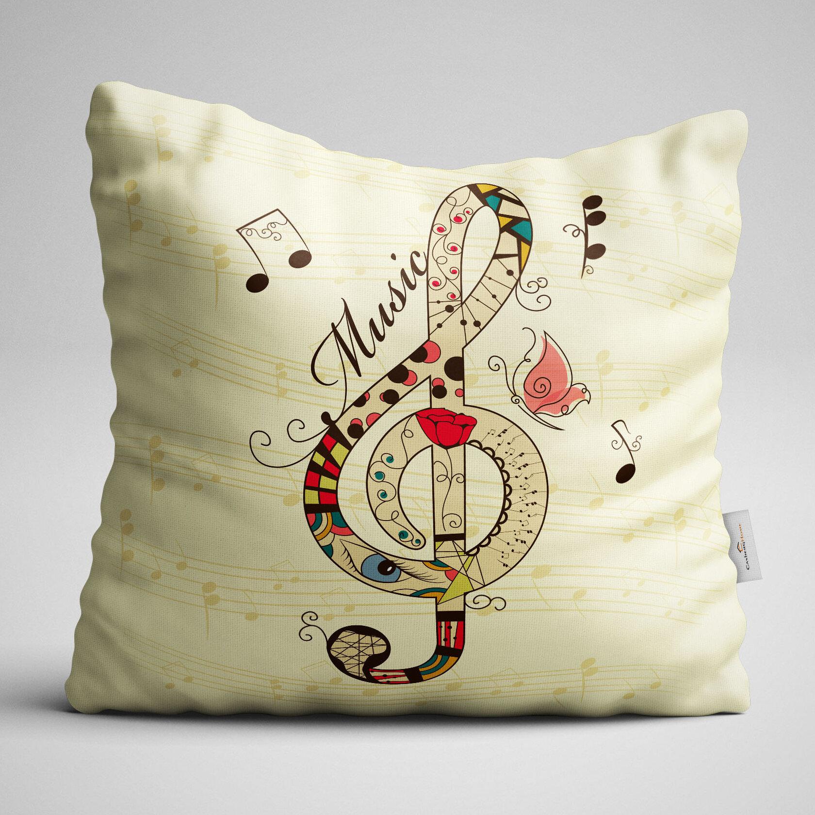Surreal Musical Modern Throw Pillow