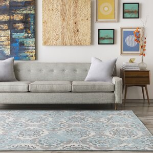 Raquel Grey Silver Blue Area Rug