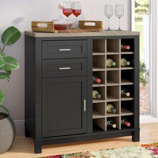 Andover Mills Zahara Bar Cabinet with Wine Storage