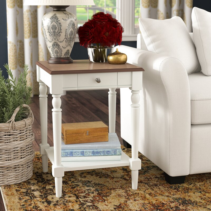 Andover Mills Ariella End Table With Storage Reviews Wayfair