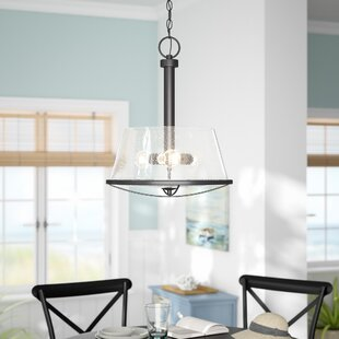 Beachcrest Home Regan 3-Light Cone Pendant