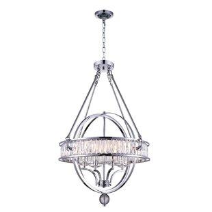 4-Light Globe Chandelier b..