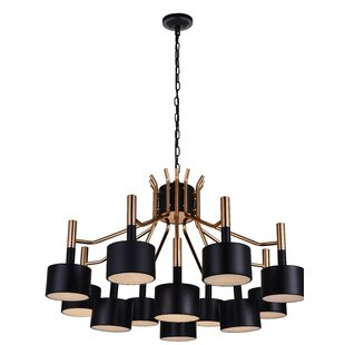 CWI Lighting Corna 12-Light Chandelier