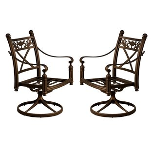Schleicher Swivel Patio Dining Chair (Set Of 2) By Fleur De Lis Living