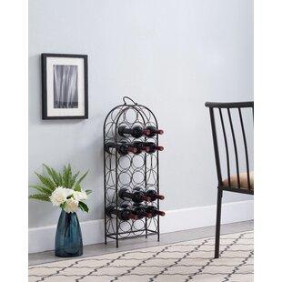Winston Porter Sikorski 23 Bottle Floor Wine Rack