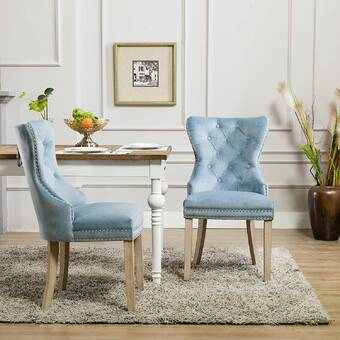 One Allium Way Alanna Upholstered Manufactured Wood Side Chair In Gray Wayfair