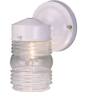 Check Prices Jelly Jar 1-Light Outdoor Sconce By Monument