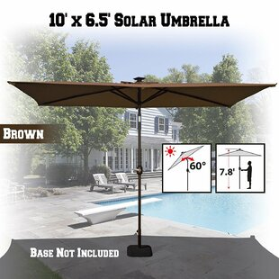 Freeport Park Talia Outdoor Garden Sunshade 10' x 6.5' Rectangle Market Umbrella