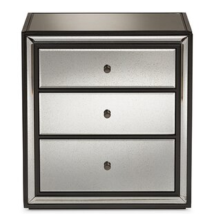 Everly Quinn Glowacki 3 Drawer Nightstand