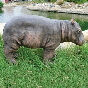 Hippo Resin Animal Statue
