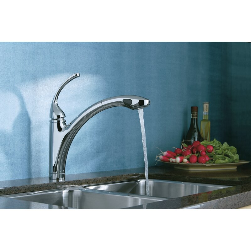 K 10433 Bn Vs G Kohler Forte Pull Out Single Handle Kitchen Faucet Reviews Wayfair