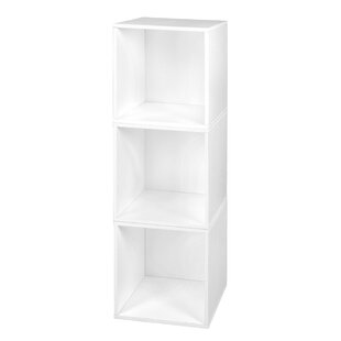 Best Reviews Stackable Modern & Contemporary Storage Laminate Cube By Rebrilliant